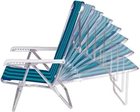 Cadeira Reclinável Mor Alumínio Cores Sortidas 2104
