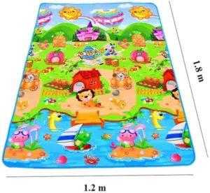 Tapete Atividades Infantil Bolsa 180x120 Colorido Emborrachado e Térmico