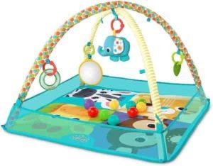 Tapete De Atividades Com Bolinhas More-In-One Ball, Bright Starts, Azul/Amarelo/Colorido
