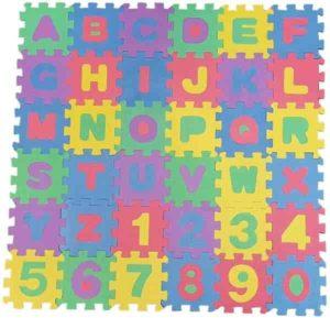 Tapetinho Médio educativo alfanumérico com 36 peças/ +3 Anos