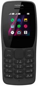 Celular Nokia 110 Preto com Rádio FM e Leitor Integrado, Câmera VGA e 4 Jogos - NK006